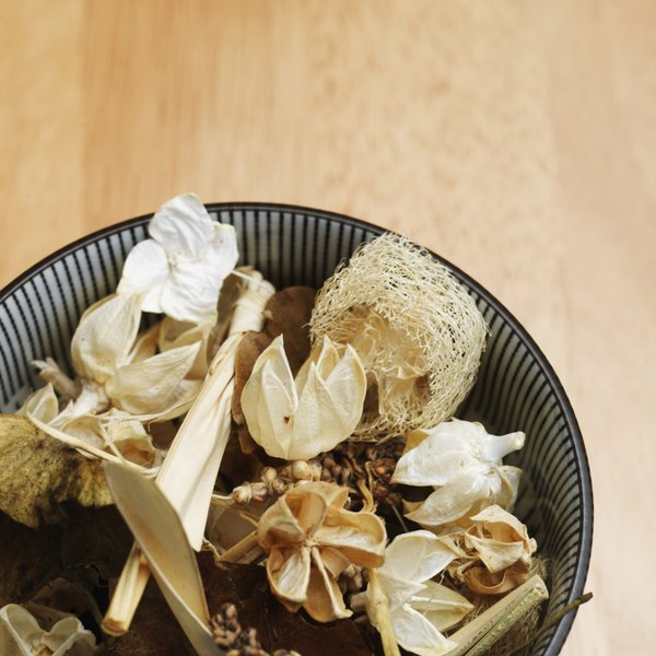 Dry potpourri can make your dog sick if he ingests it.
