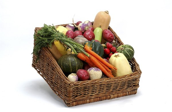 Fruits and vegetables are a healthy source of vitamins A and C.