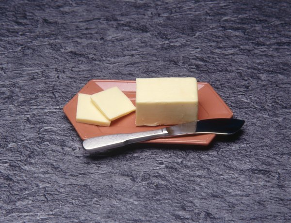 Margarine can contain a large amount of fat, but it doesn't have much lactose.