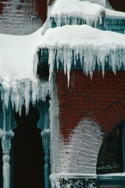 If melting ice leaks inside, your insurance should cover it.