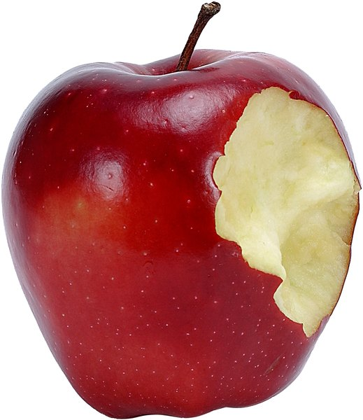 Apples start out starchy, but starch turns to sugar as apples ripen.