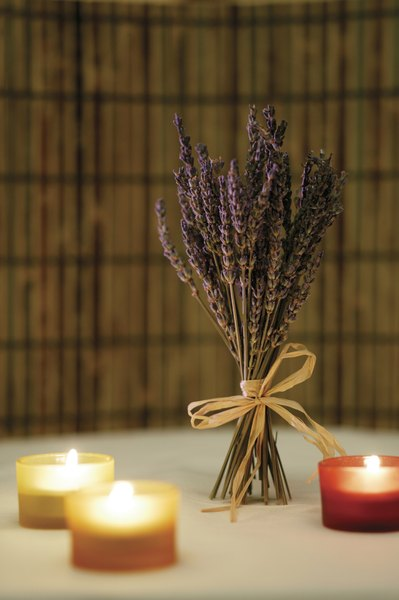 Centerpieces Stems Of Dried Lavender