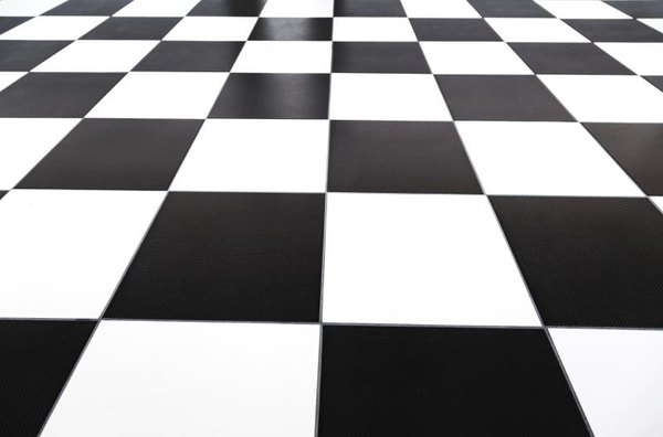 50s Checkerboard Tile Flooring Grout And Spacing Suggestions Home