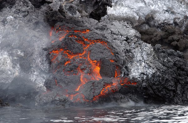 Igneous rock formations form near volcanoes.