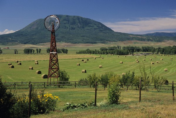 An American windmill on a Colorado farm.