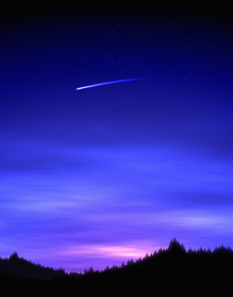 Meteors burn up in Earth's mesosphere.