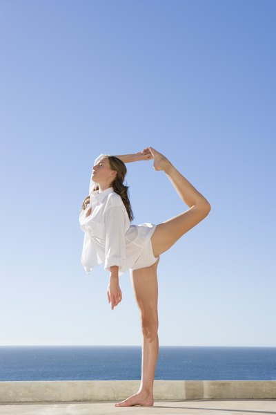 Advanced Power Yoga Poses By Amy Lucas Keep It Up And Soon Youll Be Touching Your Foot To Head