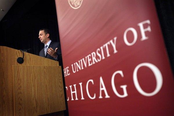 O presidente do Comitê Nacional Republicano fala aos alunos em palestra sobre as eleições de 2012
