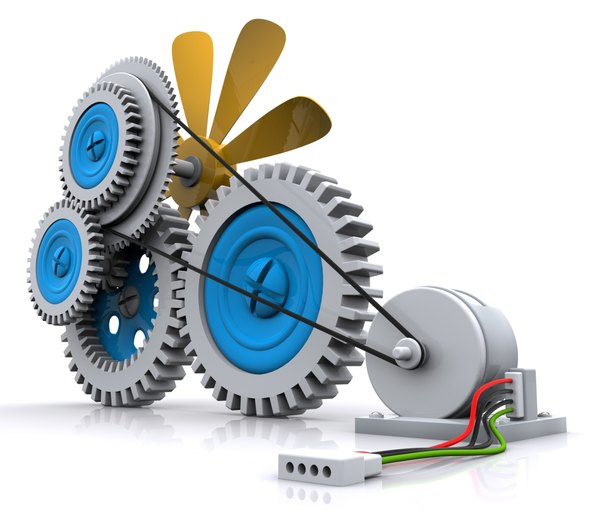 Gears make motors useful.
