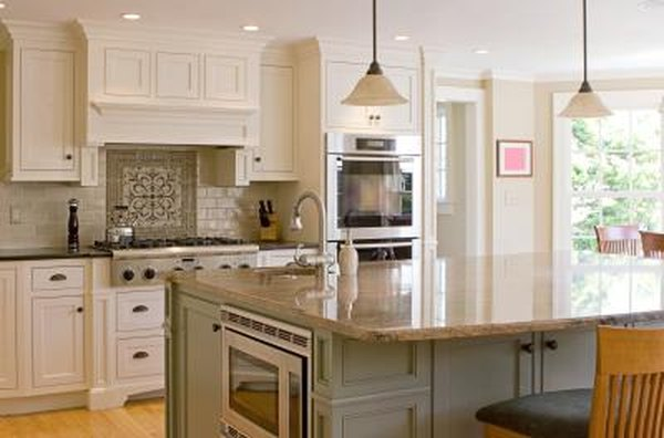 What Color to Use for Kitchen Cabinets and an Island? | Home ...