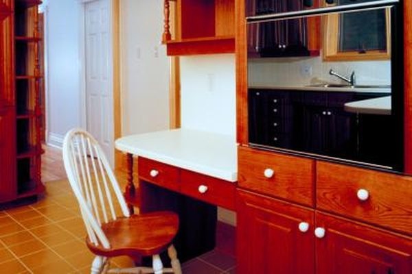Kitchen Ideas Full Wall Cabinets A Built In Desk