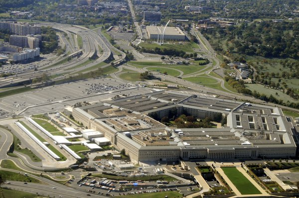 Aerial view of the Pentagon in Washington D.C.