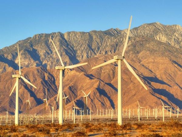Wind turbines near Palm Springs, CA.