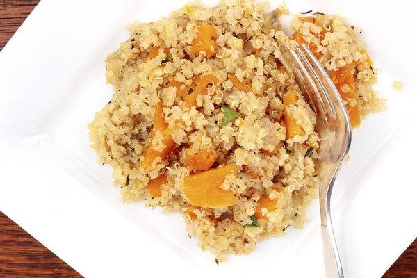 Quinoa y calabaza, excelente combinación.