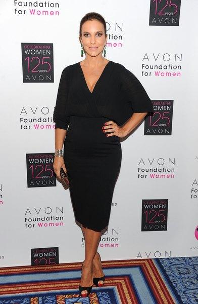 A cantora Ivete Sangalo na festa de aniversário de 125 anos da Avon, em Nova York
