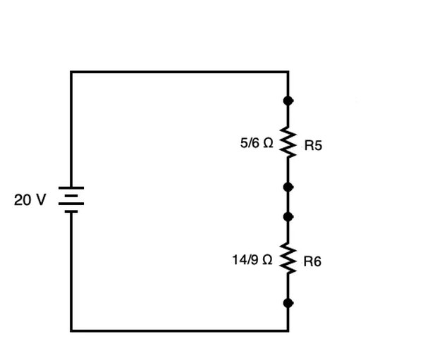 Series-parallel circuit modified