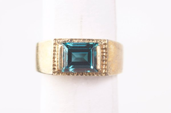 A vivid blue-green aquamarine is generally more valuable than a pale stone.