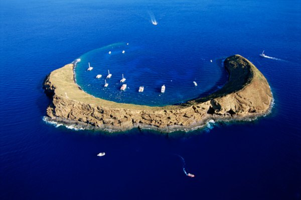 Molokini Island is an extinct volcano that is almost entirely submerged under the ocean.
