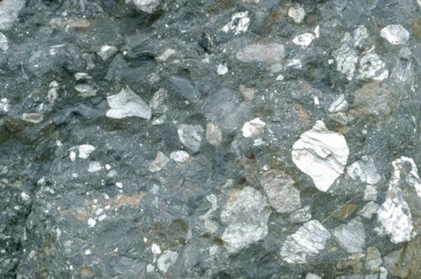 A variety of minerals are present in lava rocks.