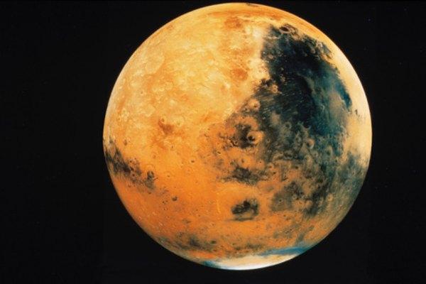 Mars features a diverse landscape.