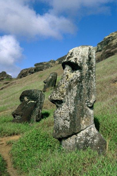 Easter Island's famous moai represent honored ancestors.