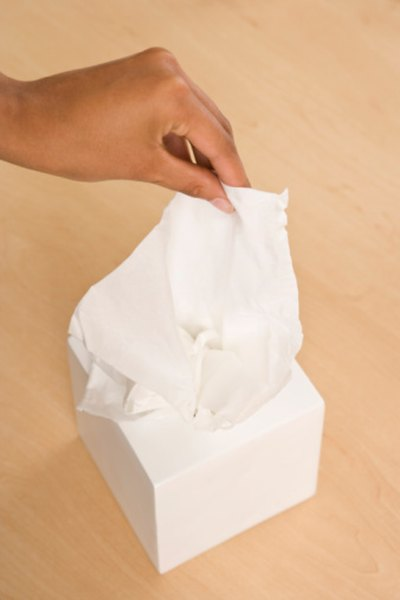 If tissue paper isn't available, try a normal tissue.