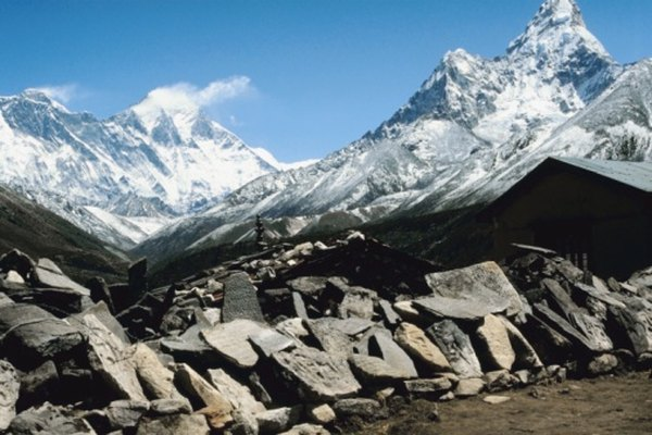The Himilayas, formed by the collision of two continental plates, is the highest mountain range in the world.