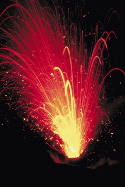 Scientists observe magma for changes.