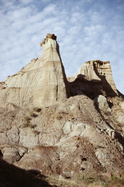Badlands in sedimentary formations are fairly transient landforms.