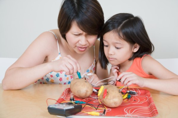 A multimeter can tell you how powerful your potato battery is.