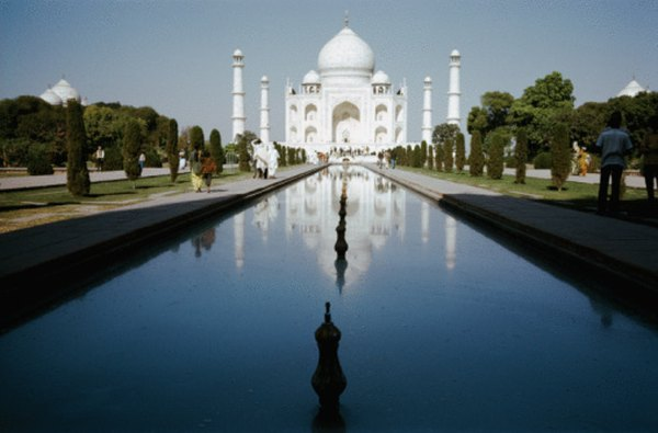 White marble was chosen for the Taj Mahal.