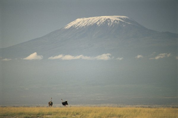 Mt. Kilimanjaro has a glacier even though it is near the equator.