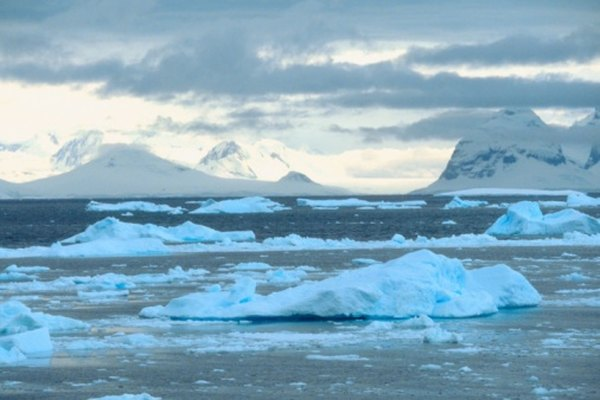 Any rain that falls in Antarctica builds up into huge ice sheets.