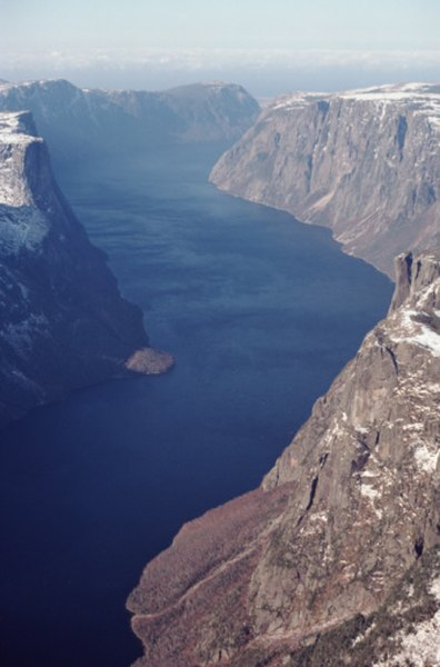 Fjords are narrow, water-filled valleys that were carved out by glaciers during the last ice age.