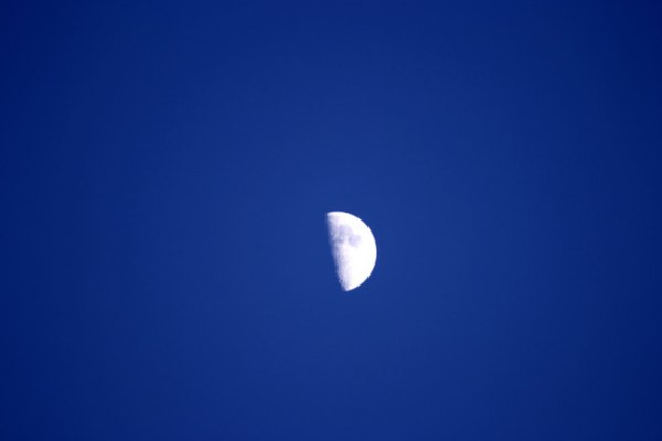The quarter moon is also called a half moon.