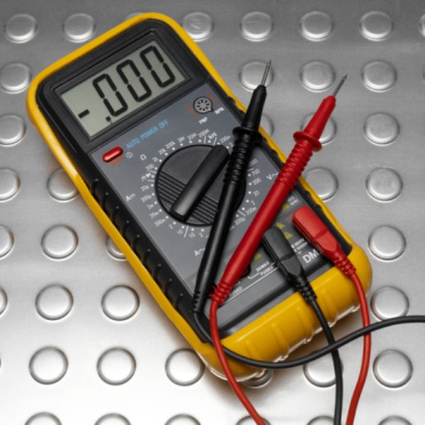 A multimeter can test diodes by applying voltage across the probe leads.