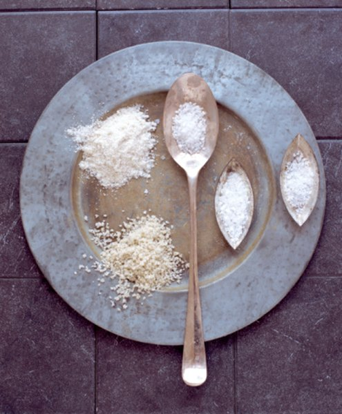 Sea salt can be added to water to perform density experiments.