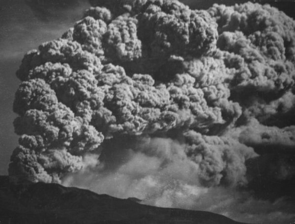 Clouds of ash and steam can risemiles into the air during an eruption