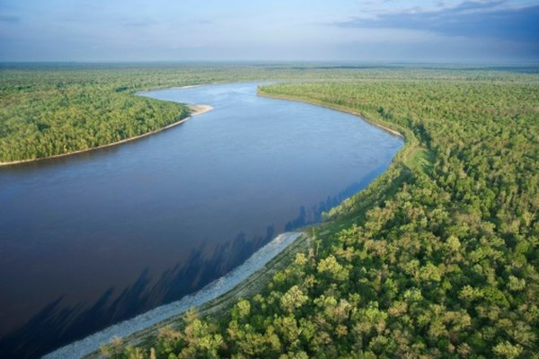 A meandering river in Louisiana.