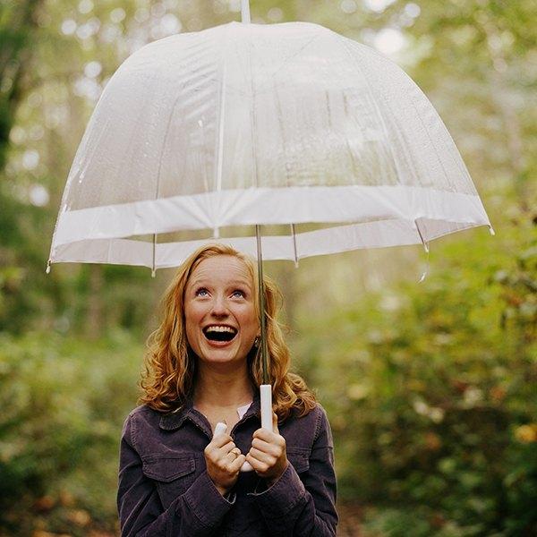 Sempre tenha um guarda-chuva na bolsa