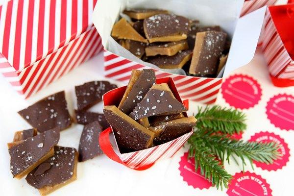 Embale o caramelo para o Natal