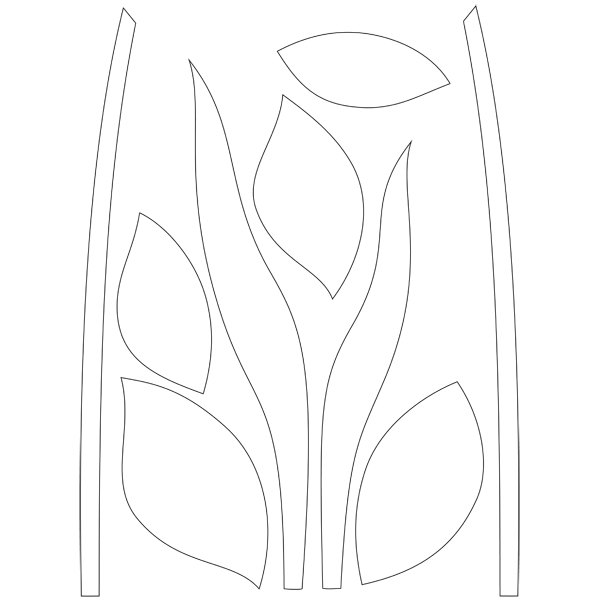 Moldes de folhas e caules