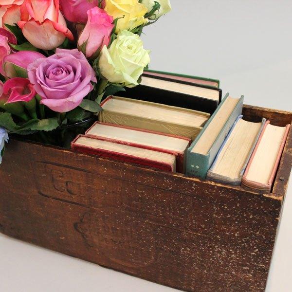 Encha a caixa com livros