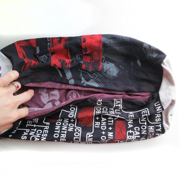 Coloque uma bolsa dentro da outra