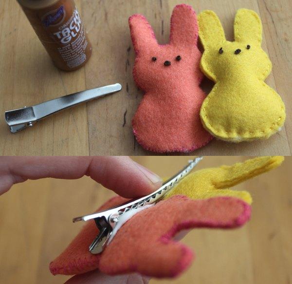 Os coelhos também podem ser prendedores de cabelo