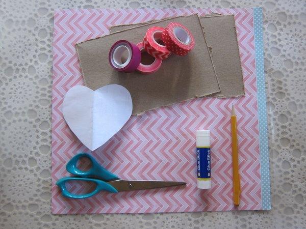 Materiais necessários para fazer o cartão
