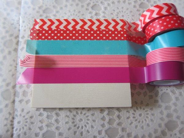 Fita adesiva decorada de papel arroz