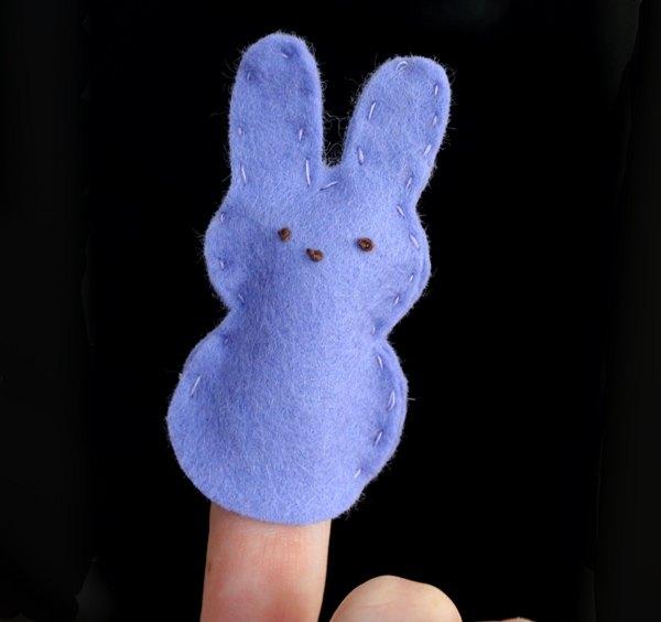 Estes coelhos também podem servir como fantoches