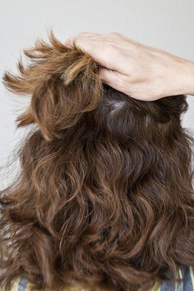 Divida o cabelo em duas seções