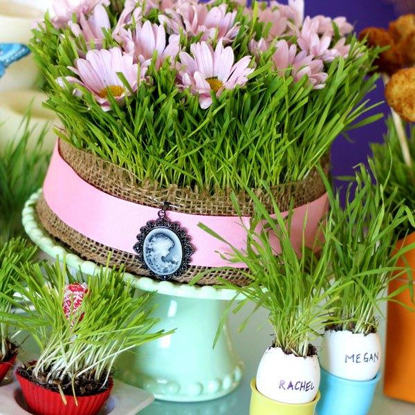 Use sua criatividade e faça outras decorações com grama